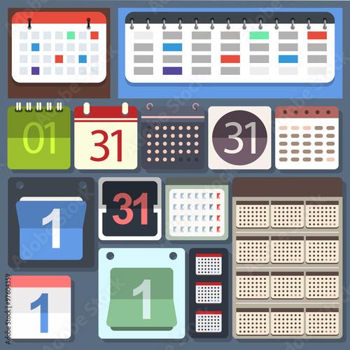 Fotografie, Obraz  Kalendarz - zestaw