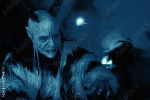 Satan in der Nacht Fototapeta