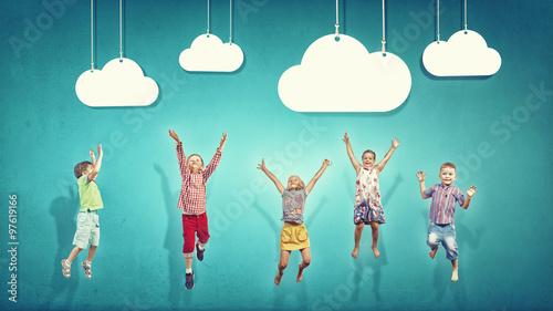 Happy careless childhood