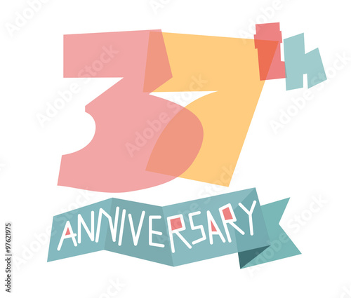 Happy 37th Anniversary Buy This Stock Vector And Explore Similar