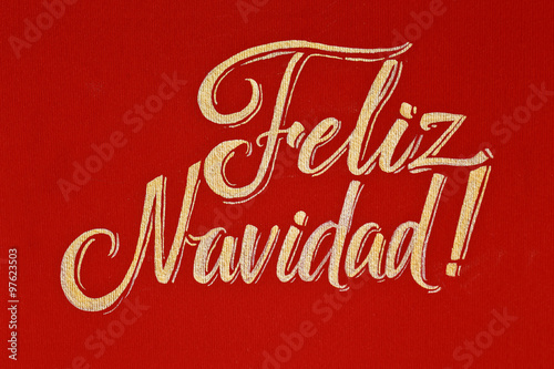 Merry christmas spanish feliz navidad red and gold calligraphic merry christmas spanish feliz navidad red and gold calligraphic greeting card m4hsunfo