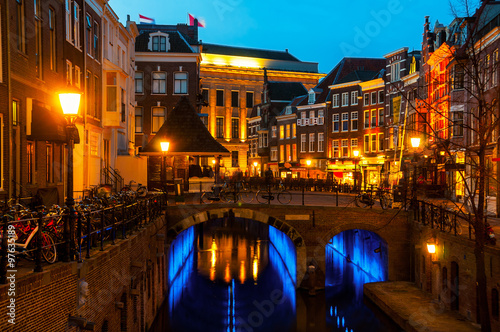 Ancient city center of Utrecht, Netherlands