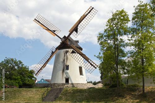Tuinposter Molens Podersdorf, Windmühle