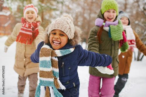 Enjoying winter day
