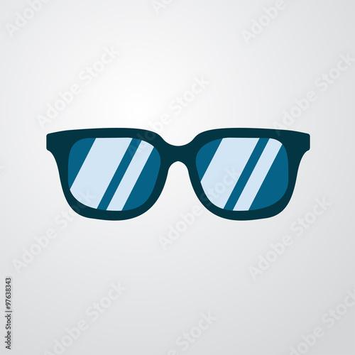 Icono plano gafas de sol color en fondo degradado