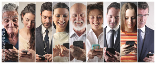 Fotografie, Obraz  Smartphone addiction