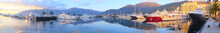 Panorama With The Image Of A Tivat Harbour
