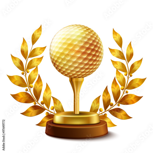 Golden golf award - 97649772