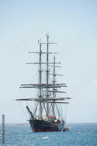 Keuken foto achterwand Schip Ship from wood at sea