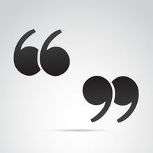 Quotation Mark On White Backgr...