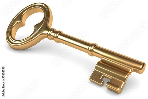 Fotografie, Obraz  der goldene Schlüssel zum Erfolg