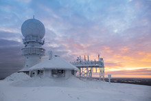 Weather Radar Station On The Top Of The Mountain - Finland, Luos