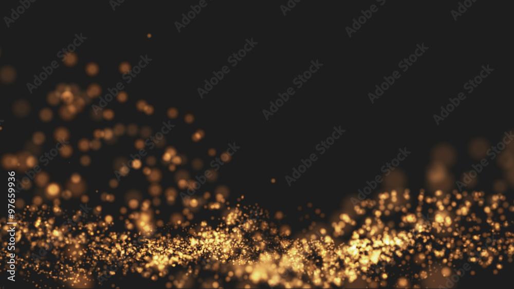 Fototapety, obrazy: Gold background Wave motion