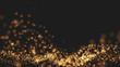 Leinwanddruck Bild - Gold background Wave motion