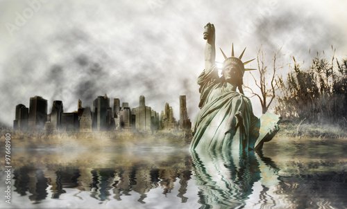 Foto op Aluminium New York Apocalypse in New york