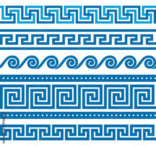 Fotografía Set of vector greek borders
