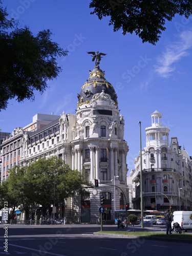Photo sur Toile Madrid Emblematic building of Madrid, called