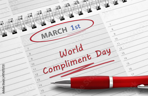 Fotografía  Note: World Compliment Day