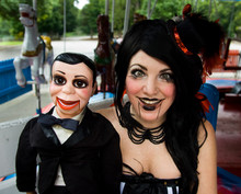 Beautiful Woman With Ventriloquist Dummy