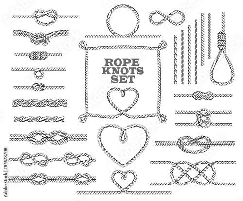 Fotografía  Rope knots collection