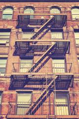 Fototapeta Vintage style photo of New York building, USA.