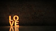 Leinwandbild Motiv marquee light love letter sign, render 3D