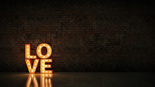 Marquee Light Love Letter Sign...
