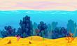 Underwater seamless landscape.