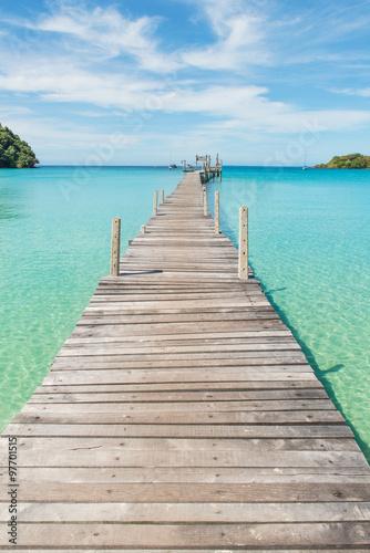 obraz PCV Wooden pier in Phuket, Thailand