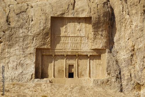 Foto op Plexiglas Artistiek mon. Detail of Tomb of Persian Kings Darius I at Naqsh-e Rustam, Shir