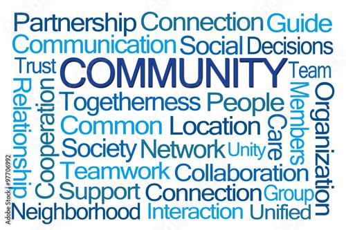 Fotografie, Obraz  Community Word Cloud