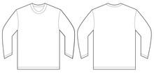 White Long Sleeve T-Shirt Desi...