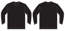 Black Long Sleeve T-Shirt Desi...
