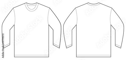Fényképezés  White Long Sleeve T-Shirt Design Template