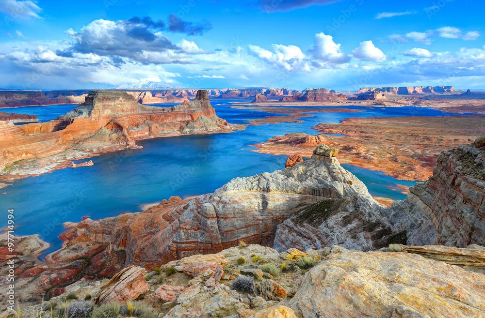 Fototapeta Alstrom point, Lake Powell, Page, Arizona, united states