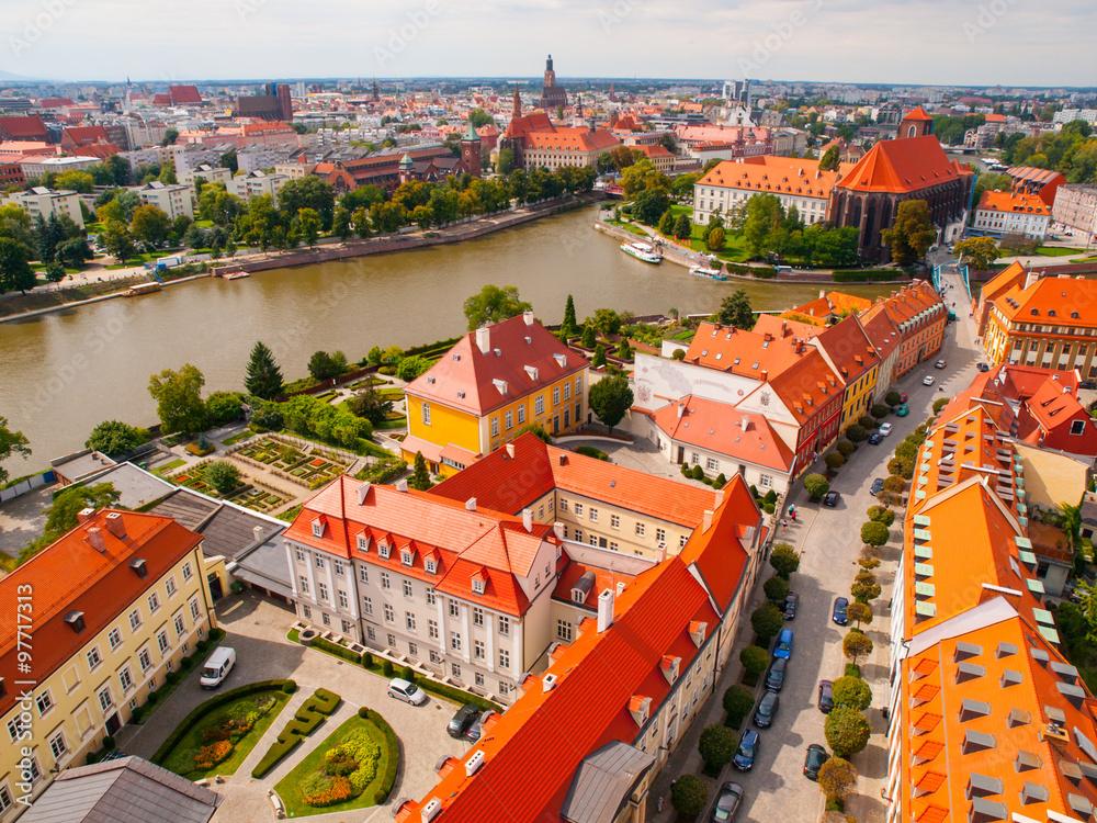 Fototapety, obrazy: Wrocław - widok z lotu ptaka
