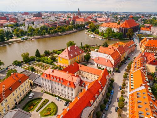Obraz Wrocław - widok z lotu ptaka - fototapety do salonu