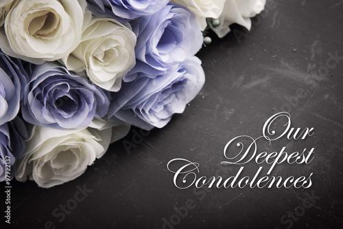 Obraz na plátně Our Deepest Condolences