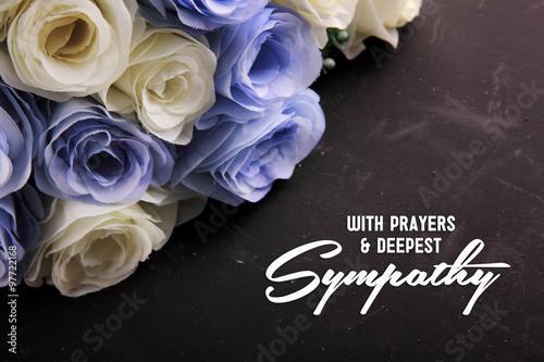 Fotografie, Obraz With Prayers & Deepest Sympathy