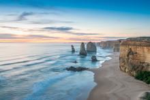 Stunning Sunset View Of Twelve Apostles, Great Ocean Road - Vict