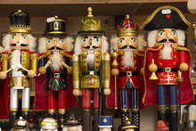 Traditional Nutcracker Souvenirs At Christmas Market
