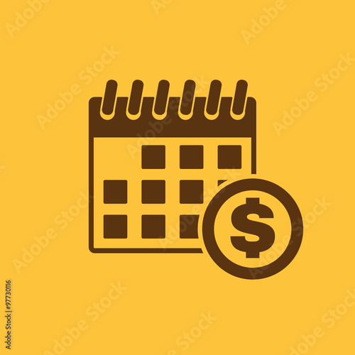 Fotografía  The pay day icon. Tax and payment, dividends symbol. Flat