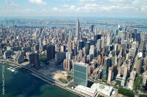 Fotografía  Blick vom Helikopter auf Midtown Manhattan, New York City