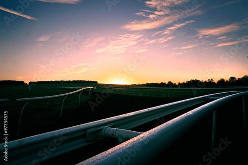 Fotografía sun rise over warren hill, Newmarket