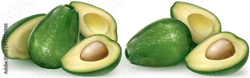 Avocado fruit and cutting half © dracozlat