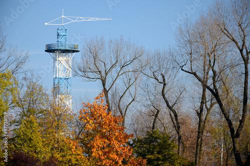 Fototapeta Parachute Tower Katowice (Poland) obraz