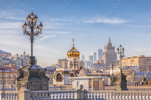 Photo  View at the center of Moscow, Russia