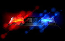 Police Beacon. Red And Blue Em...