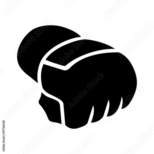 Mixed Martial Arts - MMA - gloves flat icon Poster