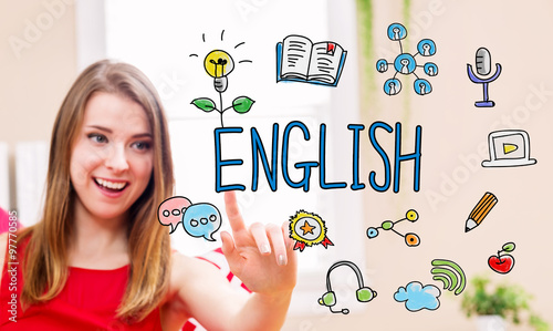 English concept with young ...